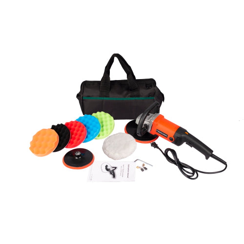 "Variable Speed Buffer Polisher Car Polishing Machine 10-Amp Electric 7"" Pad with Accessory Kit"