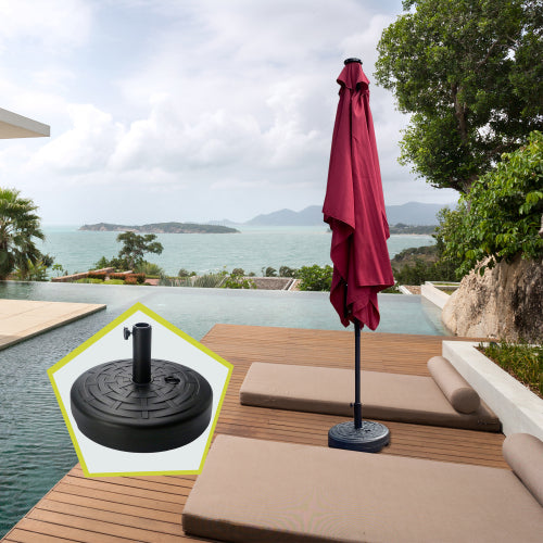 5.51 lbs Outdoor Living Heavy Duty Round Black Patio Umbrella Base
