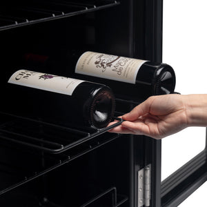 24 Bottle Wine Cooler Refrigerator White Red Wine Fridge Chiller Countertop Wine Cooler, Freestanding Compact Mini Wine Fridge 24 Bottle w/Digital Temperature Control UV-Protective Finish