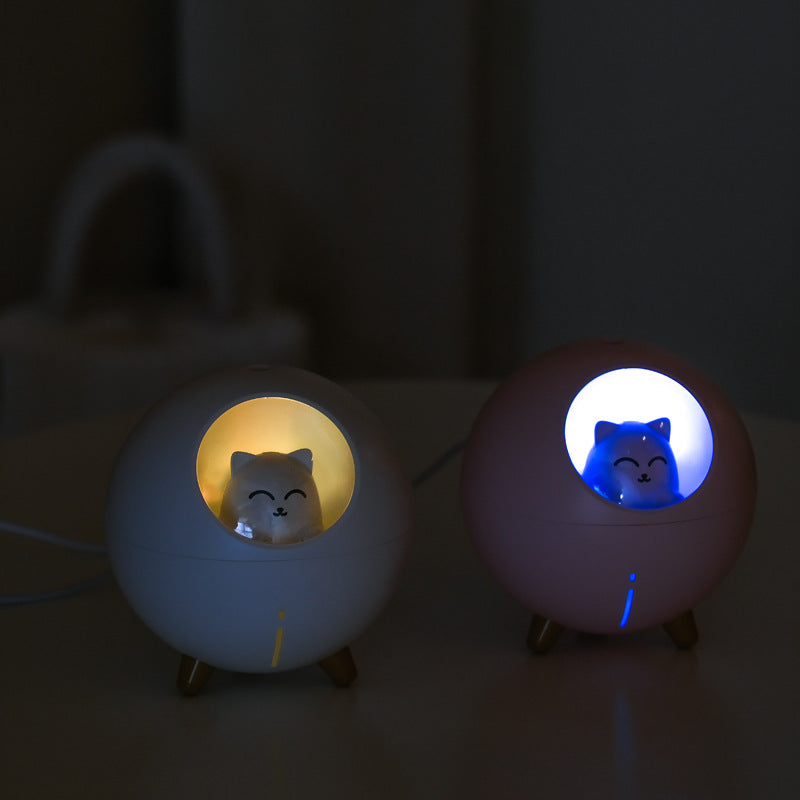 USB Humidifier 220ml Mini Cool Mist Humidifier with 7-Color LED Night Light for Home Office Baby Room Car
