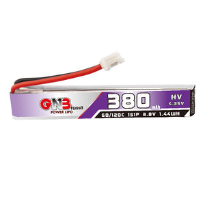 2PCS GAONEN 380mAh 1S LiPo Battery 3.8V 60C JST-PH 2.0 PowerWhoop Connector for Tiny Whoop Micro FPV Racing Drone