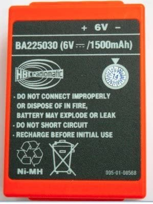 1500mAh 2000mAh 2100 mAh 6V Ni-Mh Battery for HBC Crane Remote Pump Truck Driving FUB 05AA Battery