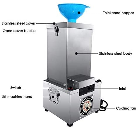 Commercial Garlic Peeling Machine 180W 20 kg/h Electric Stainless Steel  Automatic Peeler
