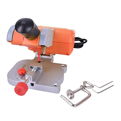 Mini Bench Cut-off Saw Steel Blade Cutting Metal Wood Plastic Adjust Miter Gauge for DIY Working