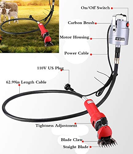 110V 750W Electric Sheep Shears Goat Clippers Machine Animal Livestock Shave Grooming Wool Cutter  2400r/min