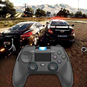 PS4 Controller Wireless Gamepad Gaming Controller with Vibration Turbo and Trigger Buttons,USB Controller Joystick Gamepad for PS4/PS4 Slim/PS4 pro/PC