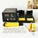 60W Pyography Wood Burning Tool Kit with Dual Pens 20pcs Pyrography Wire Tips for Wood Leather and Gourd