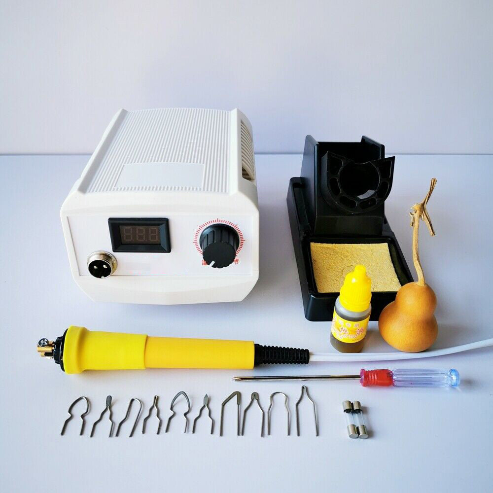 60W Wood Burning Kit Pyrography Machine with Digital Temperature Control