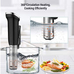 Sous Vide Cooker 1200W Immersion Circulator Sous Vide Vacuum Heater Accurate Temperature Digital Timer Ultra Quiet Working Cooker