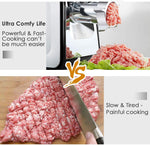Electric Meat Grinder Commercial Grade 400W Stainless Steel Heavy Duty Multifunction Meat Mincer Sausage Stuffer