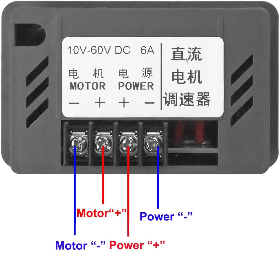 DC 10-60 V Motor Speed Controller Adjustable Reducer Control Switch with Shell
