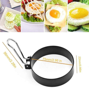 4 Pack Stainless Steel Egg Rings, Round Breakfast Household Mold Tool Cooking, Non Stick Circle Shaper Egg Rings For Frying Meat Pie, Sandwiches, Egg Maker Molds Set