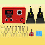 110V 50W Wood Burning Kit Digital Display Pyrography Machine Wood Craft Tool Kit with 2 Wood Burners and 20 Pyrography Wire Tips