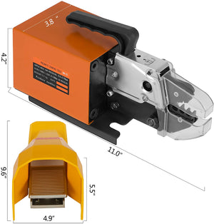 Pneumatic Air Powered Wire Terminal Crimping Machine Crimp Tool Crimper AM-10 with A03C Die set