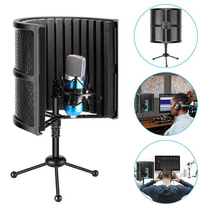 Professional Microphone Isolation Shield for Any Condenser Microphone Recording Equipment Studio