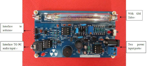Assembled Geiger Counter Kit DIY Nuclear Radiation Detector GM Tube