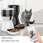 Automatic Pet Feeder 4L Smart Feeder Food Dispenser with Programmable Timer Video Surveillance for Small and Medium Pet