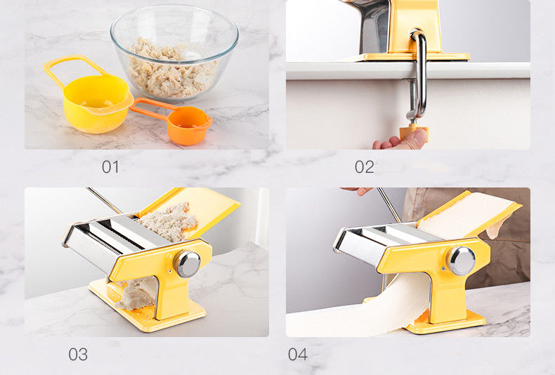 7 Adjustable Thickness Settings Pasta Maker with Hand Crank