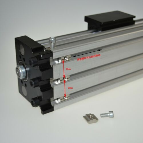 Linear Stage Actuator 100-1000mm Manual Sliding Table Ballscrew Linear Guides Cross Slide Table SFU1605 Travel Length