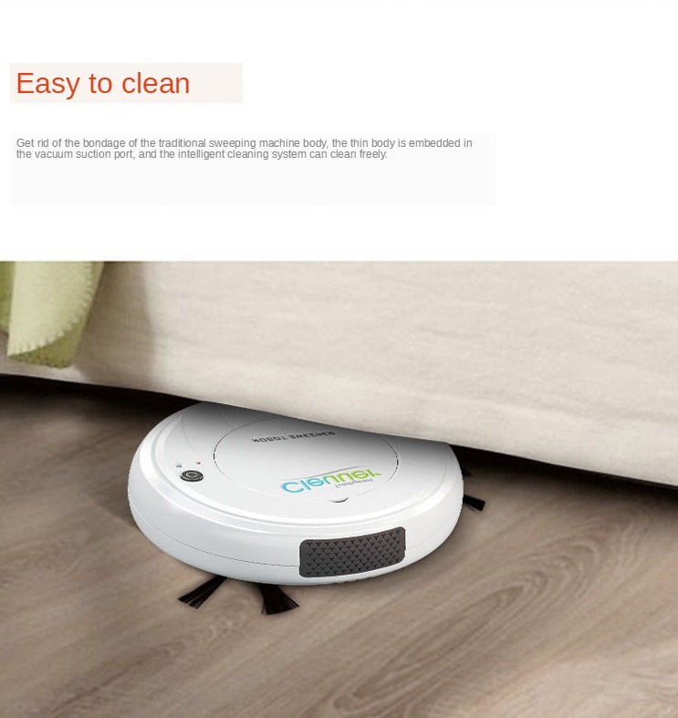 Smart Clean Robot Vacuum Cleaner Mini and Thin, Good as Housekeeper Robot for Hardwood Floors, Carpet, Pet Hair vacuuming and Cleaning