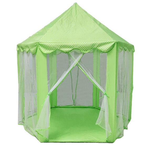 Girls Hexagon Princess Castle Play Tent Playhouse Toy Portable Foldable Kids Game House