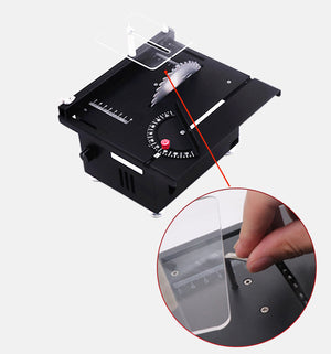 Mini Table Saw Circular Woodworking Bench Saw with Lifting Blade for DIY Crafts Cutting