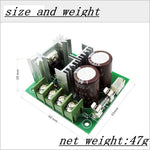 2 PACK 12V-40V 10A DC Motor Speed Controller PWM Variable Speed Regulator Governor Switch