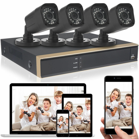 K3042HV 1080P HD 4CH DVR Recorder 1080N Outdoor CCTV Home Security Camera System US