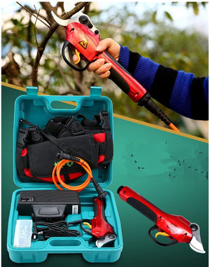 Electric Pruning Shears 25 mm Tree Pruner Shears Powered Fruit Tree Grafting MAX Cutting Diameter 1.1 inch Red