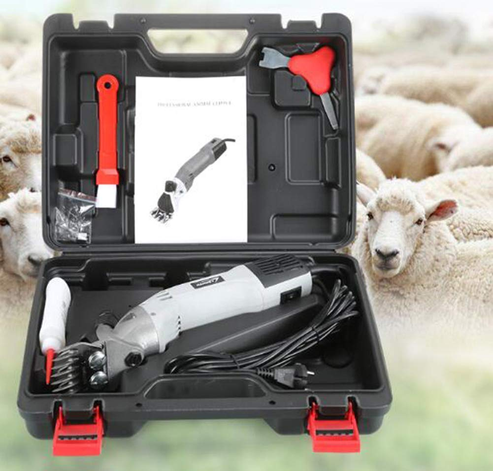 Electric Sheep Shears Goat Shearing Clippers with 6 Speeds 9pcs Straight Blades for Farm Supplies Sheep Animal Livestock 900W 2400R/Min
