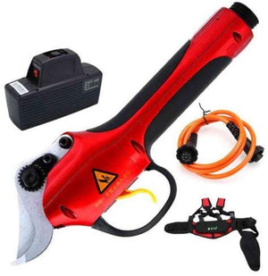 220V Rechargeable Electric Pruner Garden Grafting Tools Kit Pruning Shears for Plant Branch Twig Vine Fruit Tree