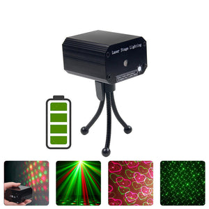Laser Lights DJ Disco Stage Lights Led Projector Karaoke Strobe Perform for Stage Lighting with Remote Control for Dancing Christmas KTV Birthday
