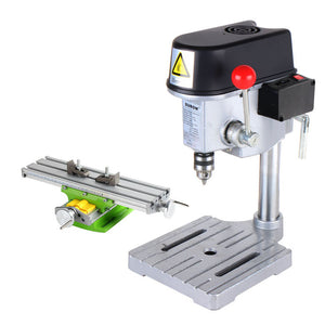Mini Bench Drill Press Drilling Machine with Workbench for Drilling PCB PVC Thin Wood