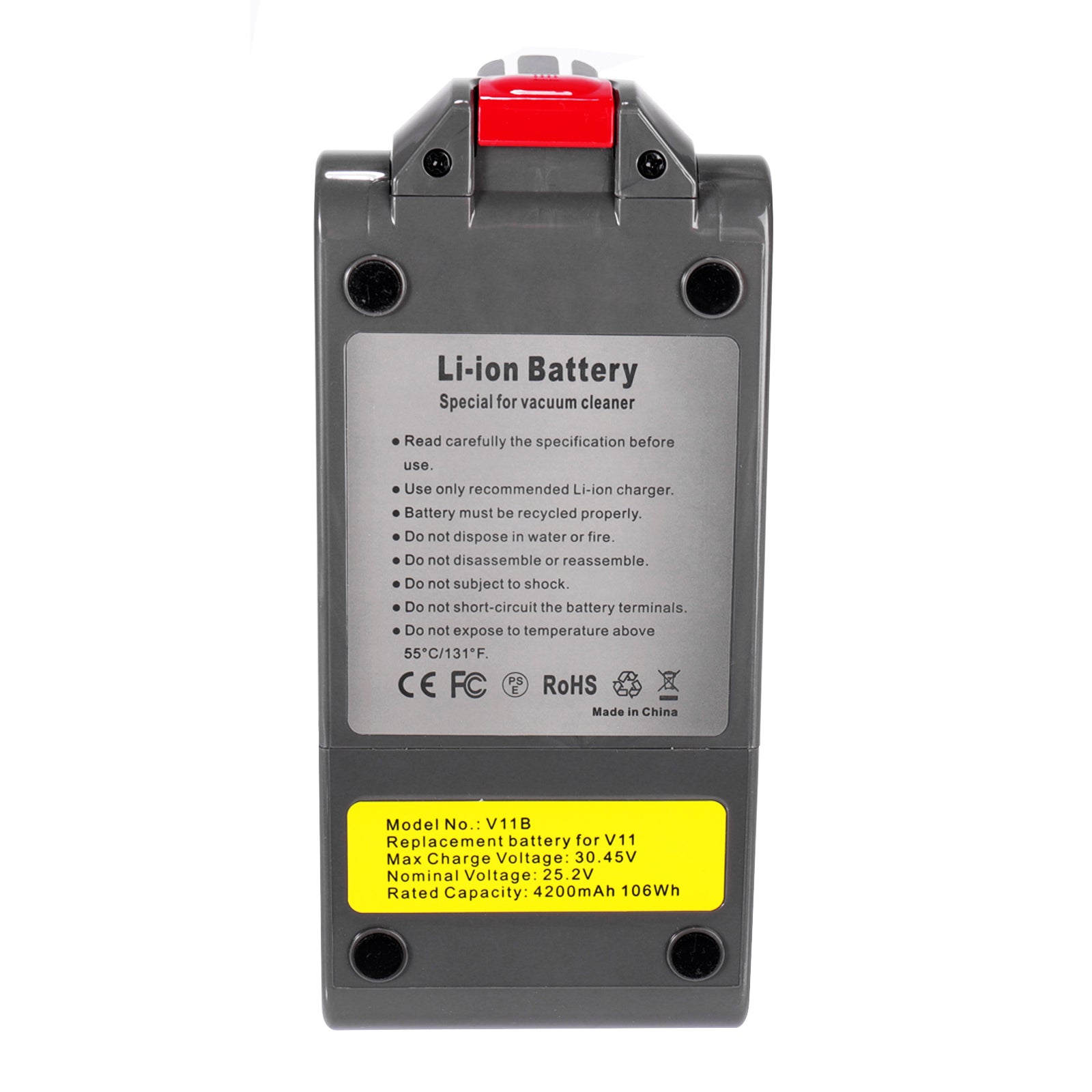 25.2 V 4200 mAh Li-Ion Replacement Battery for Dyson V11