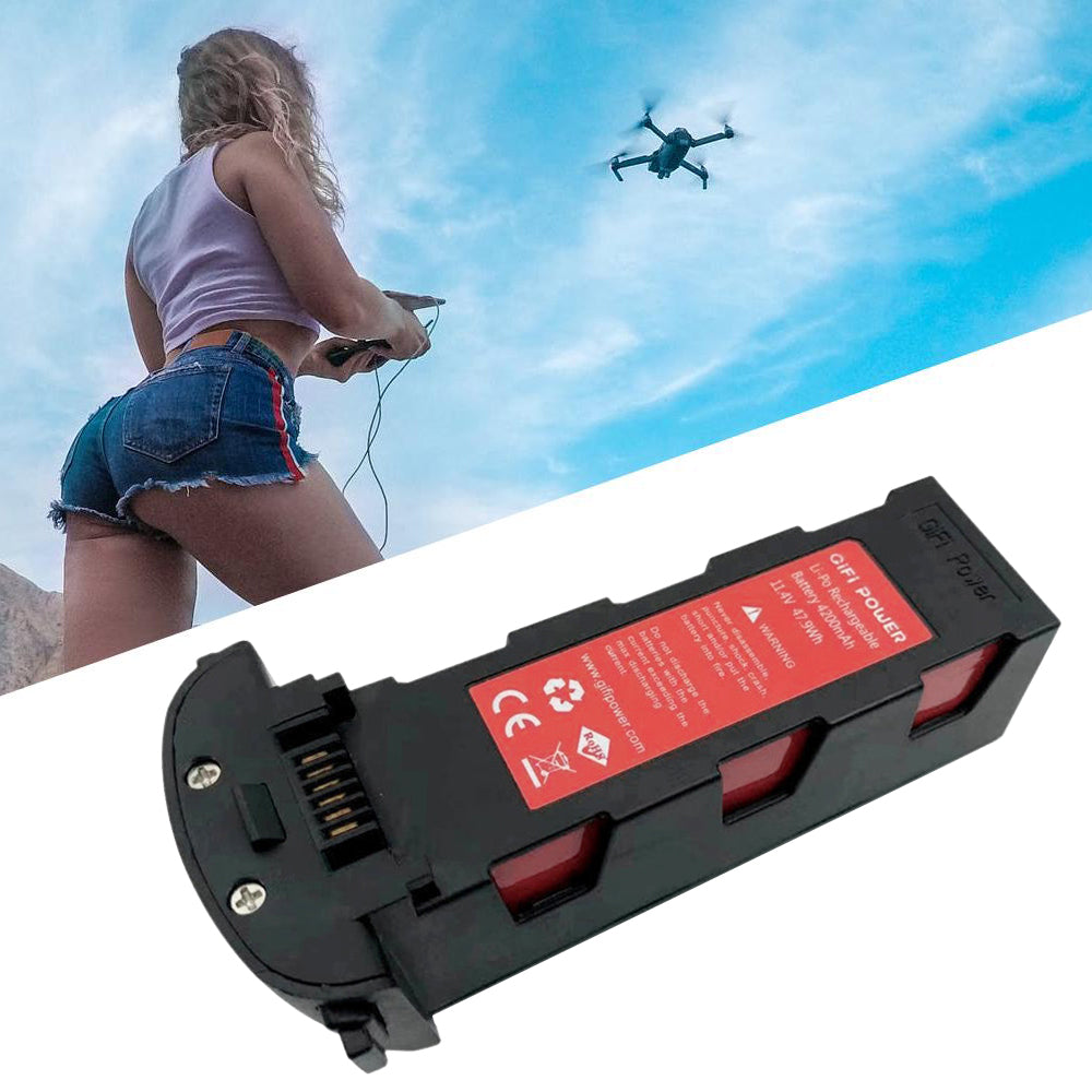 2 PACK 11.4V 4200mah Lipo Battery for Hubsan H117S Zino Brushless Four-axis Aircraft Drone