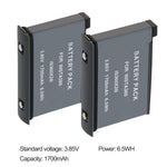 2 Pack 3.85V 1700mAh Camera Battery for Insta360 one X2