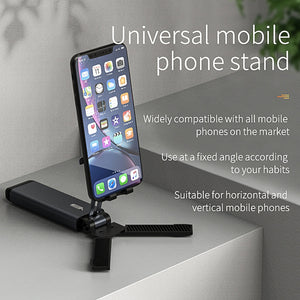 Foldable Tablet Stands Phone Holder Adjustable Phone Bracket Telescopic Cell Phone Stand Desktop Triangle Mount Universal fit for iPhone/iPad/Kindle/Mobile Phone/Tablet