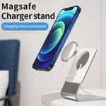Aluminum MagSafe Magnetic Wireless Charger Stand Holder Cradle Compatible with MagSafe Charger for iPhone 12,12 Mini,12 Pro,12 Pro Max