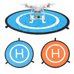 Drone Apron Drone Landing Pad with 3 Pcs LED Litghts for RC Drones Helicopter 55cm/75cm