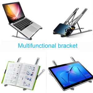 Laptop Stand, Aluminum Computer Riser, Ergonomic Laptops Elevator for Desk, Metal Holder Compatible with Mac MacBook Pro Air, Lenovo, HP, Dell, More 10-17.6 Inch PC Notebook