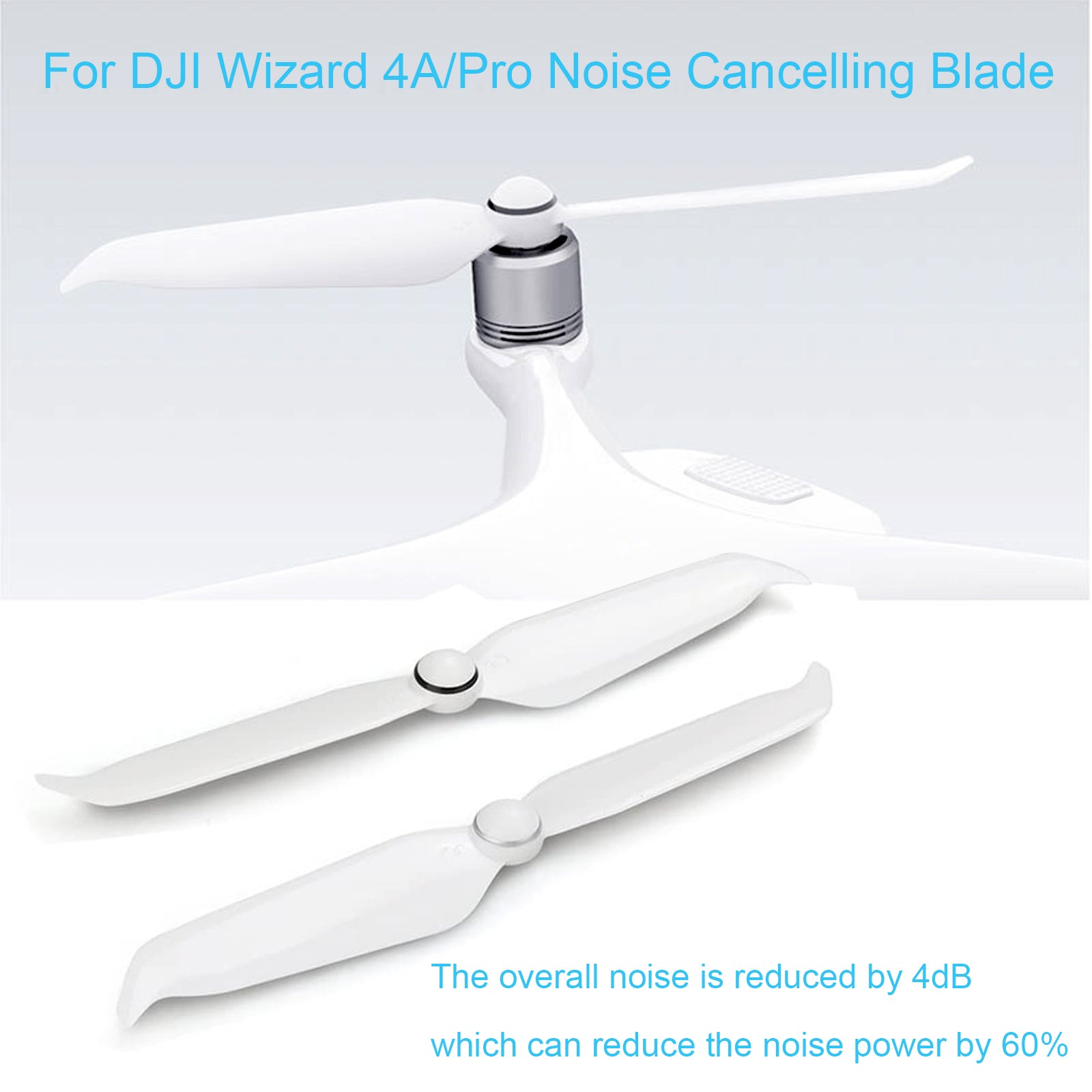 2 Pack Low-Noise Quick-Release Propellers for DJI Phantom 4 Pro