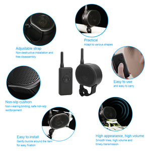 Drone Megaphone Wireless Speaker with Velcro USB Charging Aerial Broadcasting 2KM Control Distance