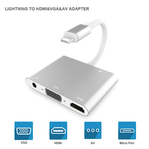 Lighting to HDMI Adapter 1080P Sync Screen Digital AV Connector Compatible with iPhone 11/11 Pro/XS Max/XS/XR/X 8 7 6 5