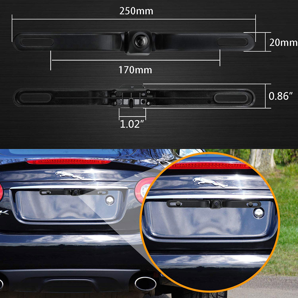 Car Rear View Reversing Universal Car Backup Camera  with 149°Perfect View Angle 8 LED Lights Night Vision 9 Level Waterproof