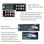 4 inch  Digital Media Car Stereo Receiver Bluetooth 5.0 Touch Screen Car Radio MP5 Player Support Rear/Front-View Camera, AM/FM/MP3/USB/Subwoofer