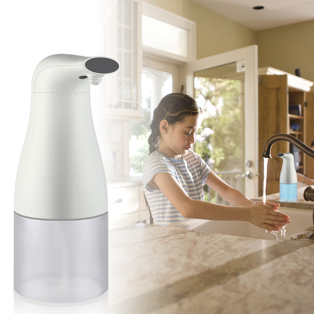400 ML Foaming Soap Dispenser Automatic Touchless Hands Free Countertop Soap Dispensers Automatic Handles Soap Pump for Bathroom Kitchen