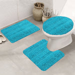 3 PCS Bath Mat Set Washable Striped Large Chenille Shaggy Bath Mat Runner Extra Soft Absorbent Indoor Floor Mats for Bathroom