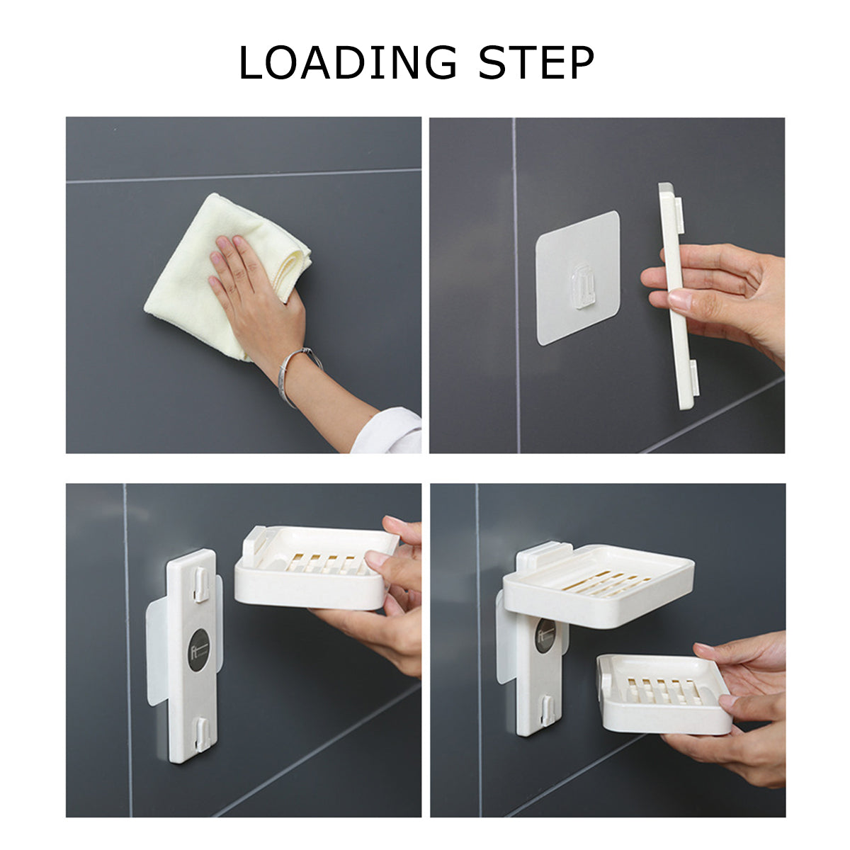 Double-layer Soap Holder Wall-mounted Soap Box for Shower Bathroom
