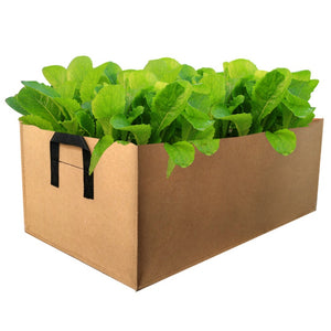 2Pcs Potato Planting Bag Square Garden Growth Bag Fabric Pots with Handles