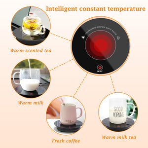 Coffee Mug Warmer Electric Beverage Tea Warmer with One-Touch Control, Coffee Warmer Plate for Cocoa Tea Water Milk